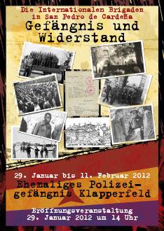 Ausstellung im Klapperfeld: Die Internationalen Brigaden in San Pedro de Cardeña. Gefängnis und Widerstand.
